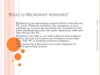 What is Microsoft windows?