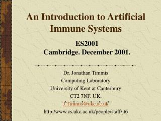 An Introduction to Artificial Immune Systems