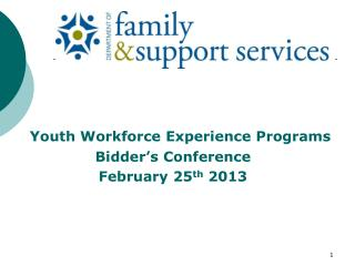 Youth Workforce Experience Programs