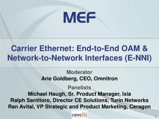 Carrier Ethernet: End-to-End OAM   Network-to-Network Interfaces E-NNI