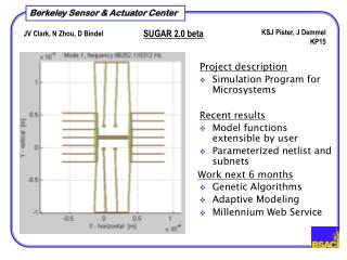 Simulation Program for Microsystems Model functions extensible by user