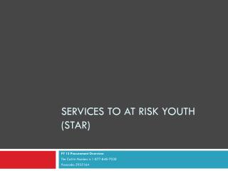 Services To At Risk Youth (STAR)