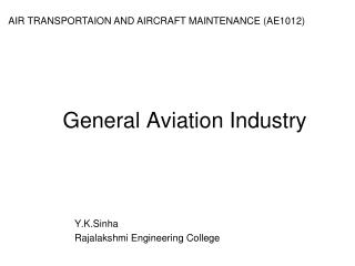 General Aviation Industry