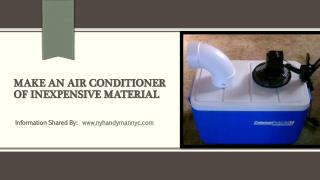 DIY: Make air conditioner at your own