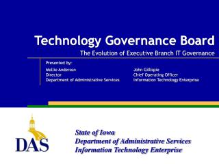 Technology Governance Board  The Evolution of Executive Branch IT Governance