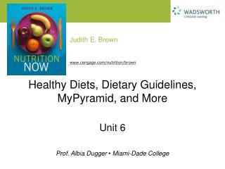 Healthy Diets, Dietary Guidelines, MyPyramid, and More