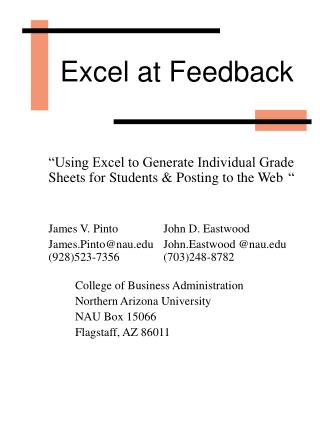 Excel at Feedback