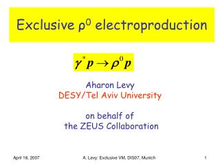 Exclusive  ? 0  electroproduction