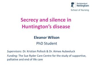 Secrecy and silence in Huntington's disease