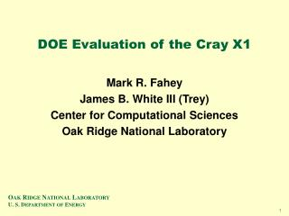 DOE Evaluation of the Cray X1