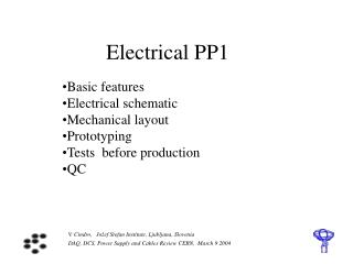 Electrical PP1