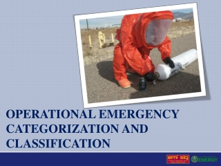 Operational emergency categorization and classification