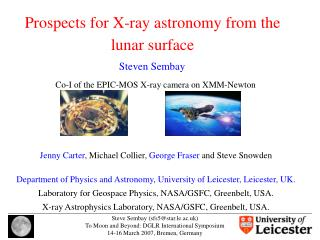 Prospects for X-ray astronomy from the lunar surface