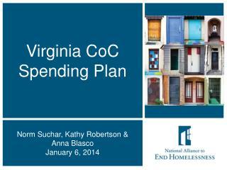 Virginia CoC Spending Plan