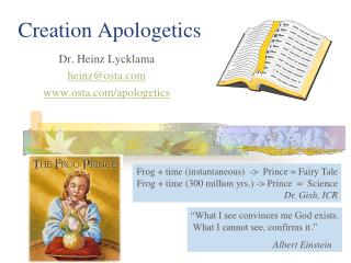 Creation Apologetics