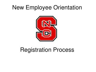 New Employee Orientation Registration Process
