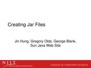 Creating Jar Files