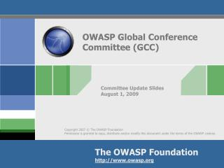 OWASP Global Conference Committee (GCC)