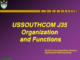 SCJ35 Future Operations Division Operational Planning Group