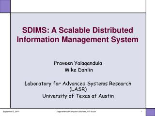 SDIMS: A Scalable Distributed Information Management System