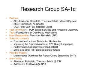 Research Group SA-1c