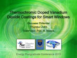 Thermochromic Doped Vanadium Dioxide Coatings for Smart Windows