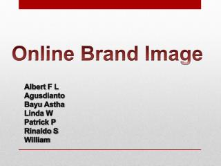 Online Brand Image