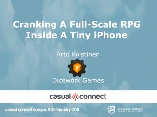 Cranking A Full-Scale RPG Inside A Tiny iPhone