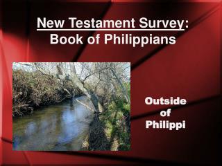 New Testament Survey : Book of Philippians