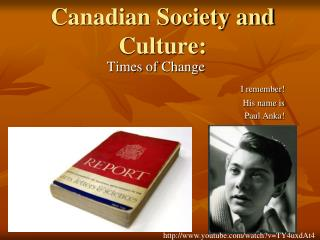 Canadian Society and Culture: