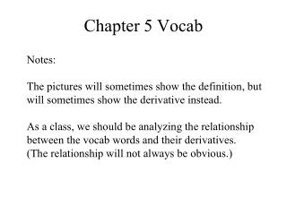 Chapter 5 Vocab