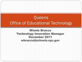 Queens Office of Educational Technology