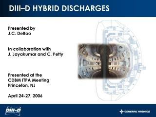DIII–D HYBRID DISCHARGES