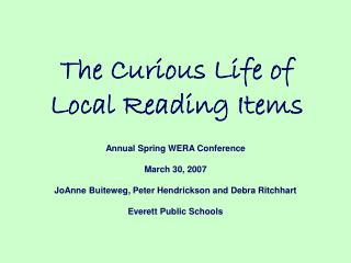 The Curious Life of Local Reading Items