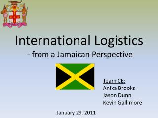International Logistics  - from a Jamaican Perspective