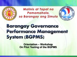 Barangay  Governance Performance Management System (BGPMS)