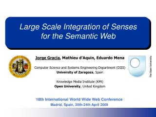 Large Scale Integration of Senses for the Semantic Web