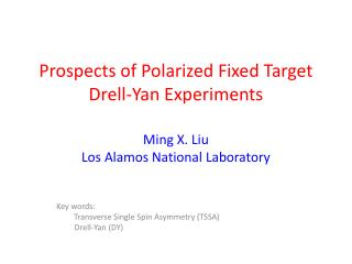 Prospects of Polarized Fixed Target Drell-Yan Experiments