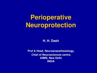 Perioperative Neuroprotection
