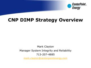CNP DIMP Strategy Overview