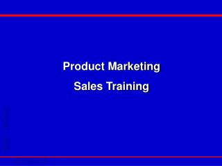 Product Marketing Sales Training