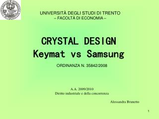 CRYSTAL DESIGN Keymat vs Samsung