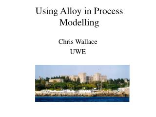 Using Alloy in Process Modelling