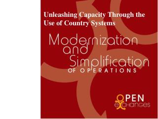 Unleashing Capacity Through the Use of Country Systems