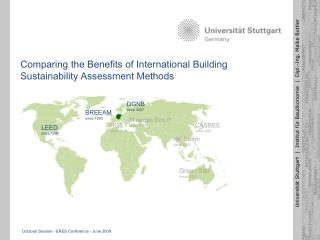 Comparing the Benefits of International Building Sustainability Assessment Methods