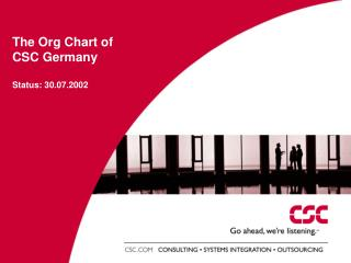 The Org Chart of CSC Germany Status: 30.07.2002