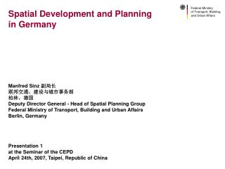 Spatial Development and Planning in Germany