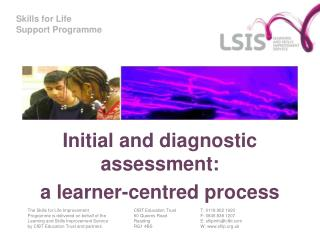 Initial and diagnostic assessment:  a learner-centred process