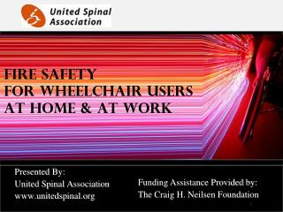 Fire Safety For Wheelchair Users At Home & At Work