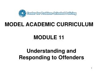 MODEL ACADEMIC CURRICULUM MODULE 11